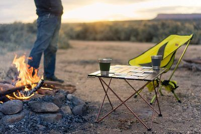 Trekology small camp table by chair