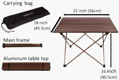 Trekology small portable table parts