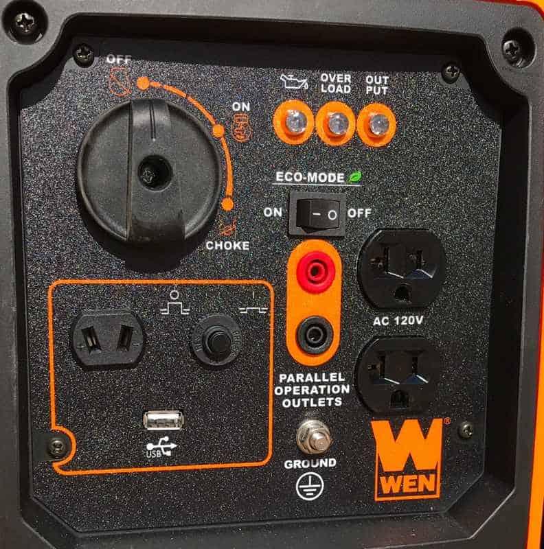 WEN 56200i 2000 watt generator panel