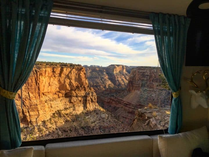 Wedge Overlook Boondocking View from Kelly Rig