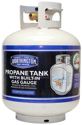 Worthington steel propane tank with gauge