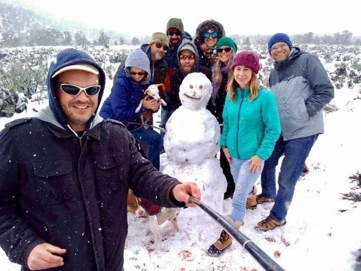 Xscaper friends in Moab snow