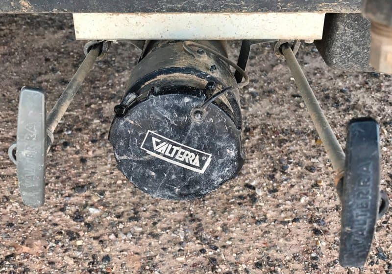 how to drain black water tank on a travel trailer